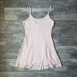 Blush Pink Forever 21 Lace Mini Short Dress